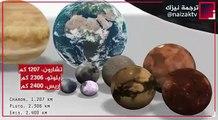 من أعجب ما ستشاهده احجام الاجرام السماوية