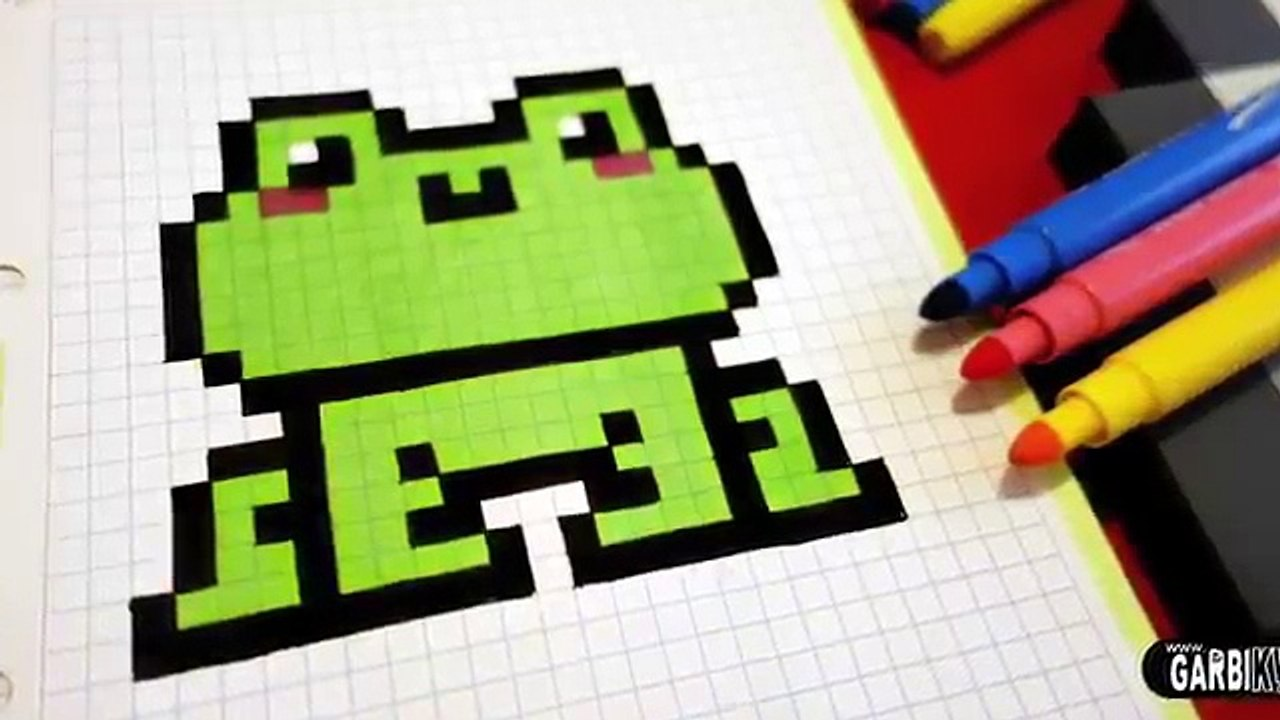 Handmade Pixel Art How To Draw A Kawaii Frog Pixelart