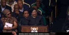 Winnie Mandela PA Zodwa Zwane emotional farewell at Winnie Mandela Memorial service.