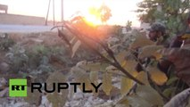 Feroces combates durante el asedio de Kweires, en Siria