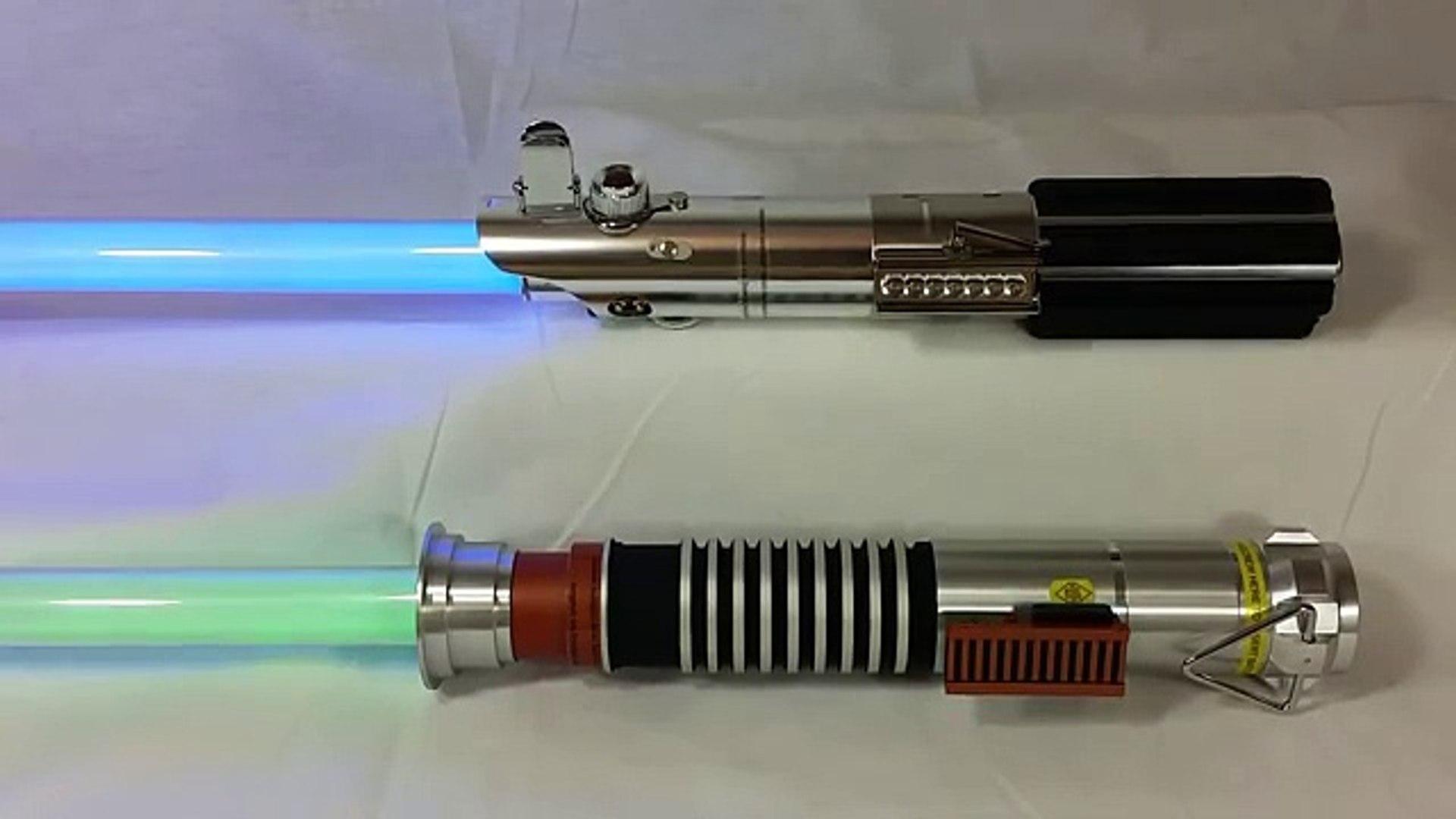 Star Wars The Black Series Force Fx Lightsaber Comparison Luke Vs Luke Video Dailymotion