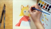 Speed Painting Evan Ni No kuni 2 [Time Lapse Painting Watercolor]