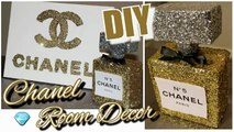 DIY Chanel Perfume Bottle Room Decor & Chanel Canvas Wall Decor| Tumblr Inspired Chanel