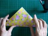 折り紙 ハンドバッグ 簡単な折り方 Origami Handbag