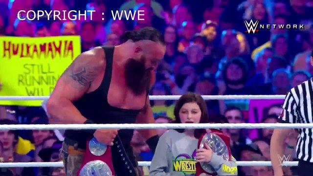 Braun Strowman & Nicholas vs The Bar (Cesaro & Sheamus) - WrestleMania 34
