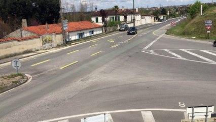 Cognac  :  le carrefour de l'avenue de Royan et de la zone industrielle de Merpins