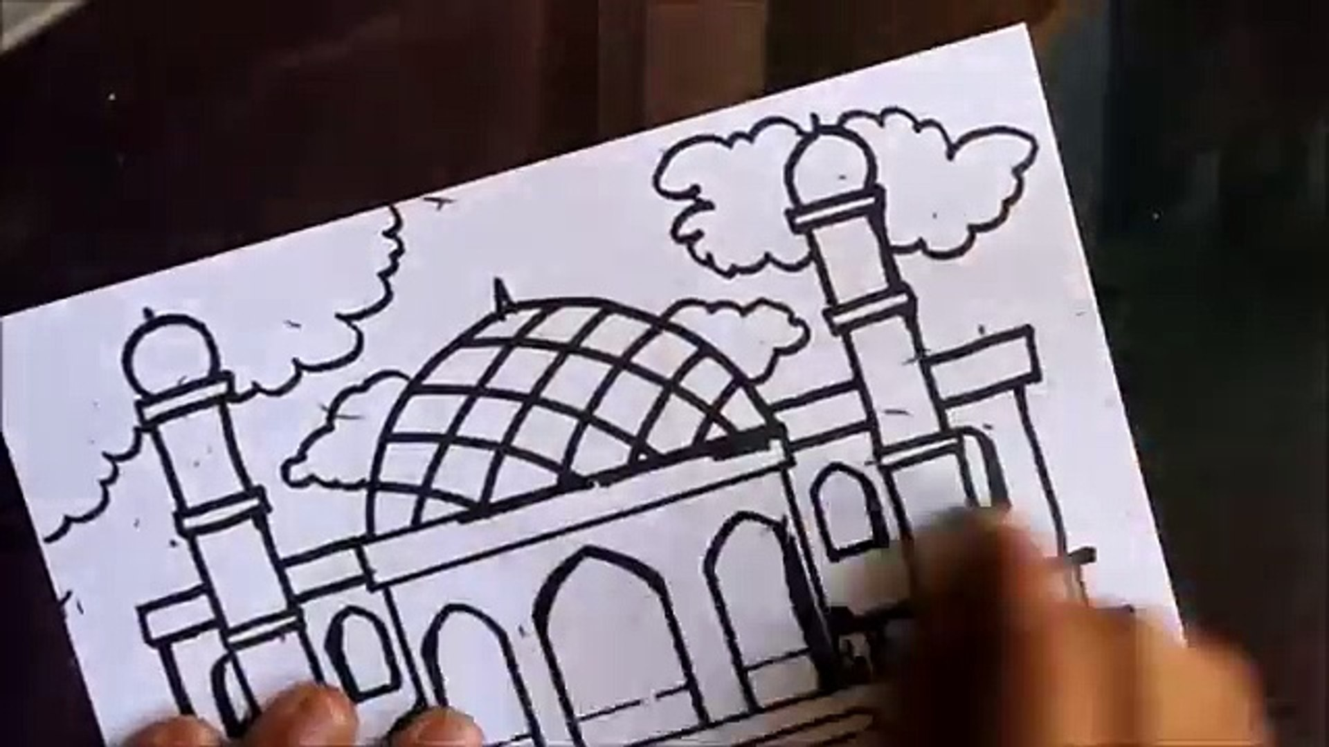 Cara Menggambar Pemandangan Masjid Video Dailymotion