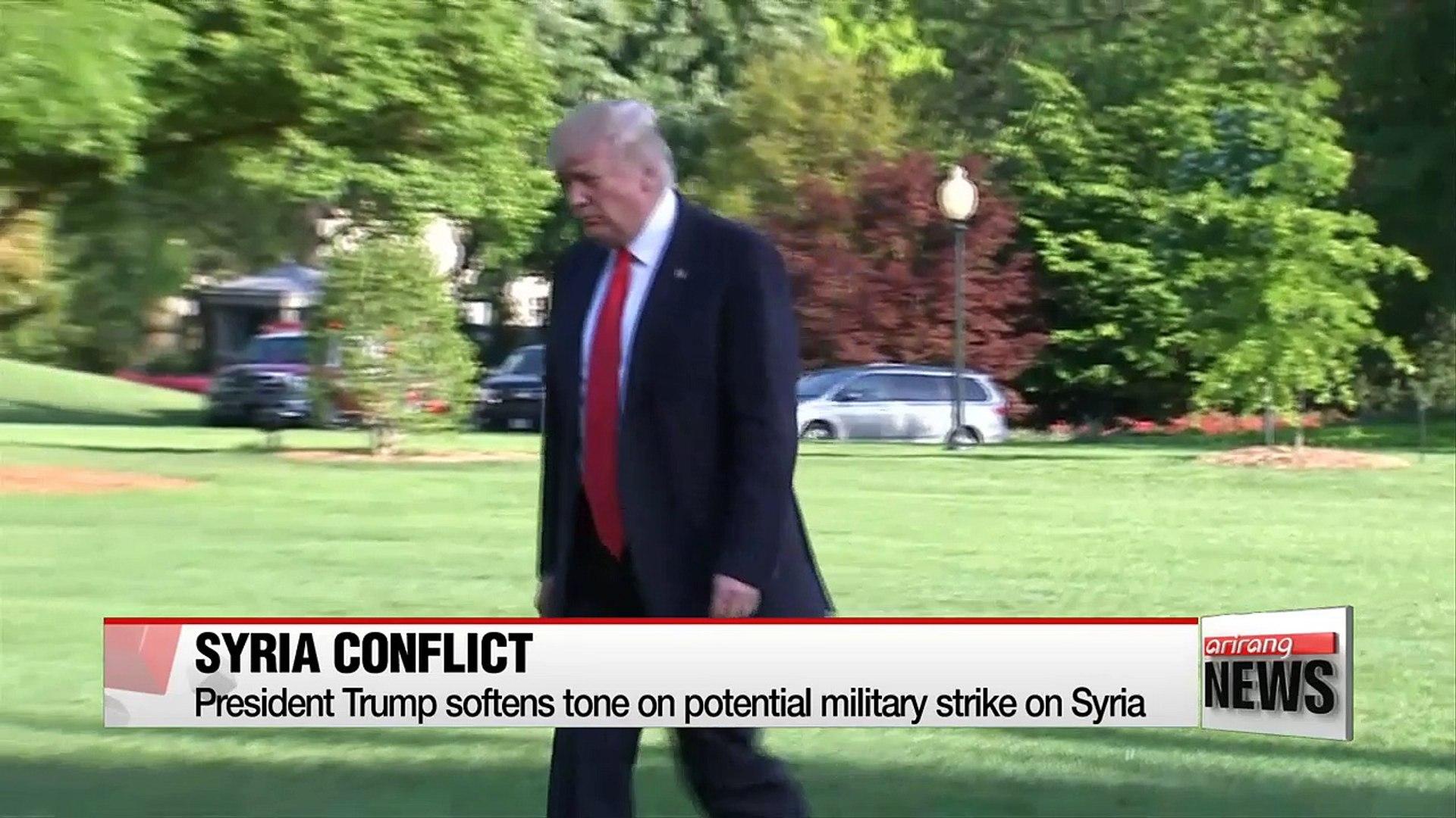 President Trump softens tone on potential military strike on Syria