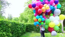 Mit Helium Ballons FLIEGEN ? :O das EXTREM EXPERIMENT | BibisBeautyPalace