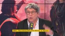 """#MacronTF1 #GreveSNCF """"Si la comparaison à faire pour l'avenir de la SNCF, c'est La Poste. Je crois qu'il a fait tout ce qu'il fallait pour renforcer le mouvement des cheminots"""" pour Eric Coquerel"""
