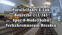 Parallelfahrt E-Lok Baureihe 212 243 Weiße Lady Spur 0 Modellbahn - Ein Video von Pennula für alle Freunde der Modelleisenbahn bzw. Modellbahn
