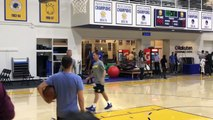 Kevin Durant works with Steve Nash during Warriors practice | NBA on ESPN