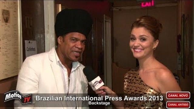 Entrevista - Carlinhos Brown é homenageado nos EUA - Brazilian Press Awards 2013 (backstage)