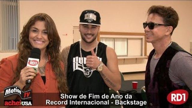 Netinho e rapper D-Snow - Show de Fim de Ano Record Internacional - Brazil Celebration (entrevita)