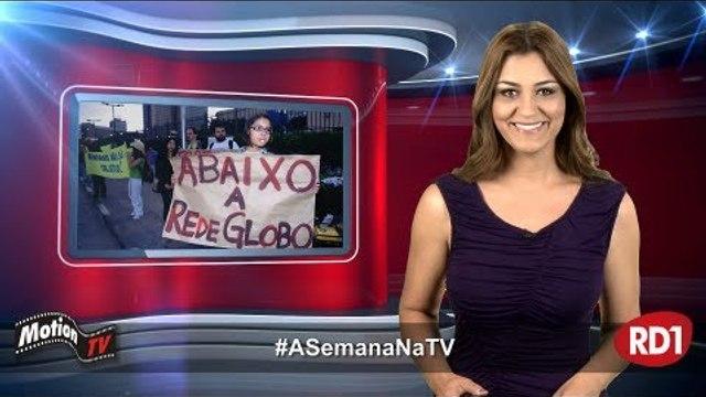 #ASemanaNaTV: Globo vira alvo de protestos; Caco Barcellos é hostilizado; Carro da Record é queimado