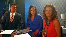 Alejandra Barros, Diego Olivera, y Angelica Vale Ya estamos en la presentación a prensa de #YMañanaSeráOtroDía. ¡Conéctate!