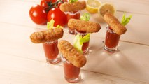 We're Obsessed With These Mozz Stick Bloody Mary Shooters