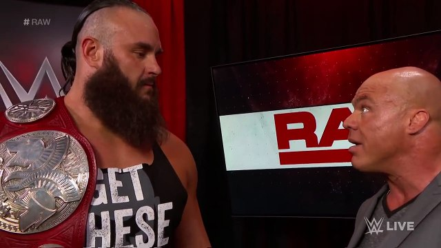 Braun Strowman & Nicholas relinquish the Raw Tag Team Titles: Raw, April 9, 2018