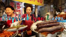 KOREAN STREET FOOD - Gwangjang Market Street Food Tour in Seoul South Korea  BEST Spicy Korean Food
