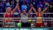 WWE RAW 2018 Sasha Banks & Bayley vs Charlotte & Nia Jax + Sasha wants Rematch