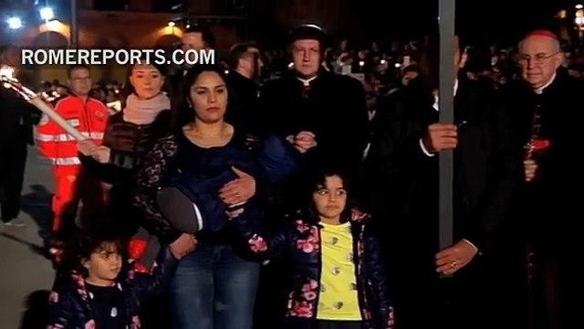 El Papa durante Vía Crucis: Vergüenza por la sangre inocente de mujeres, niños y emigrantes