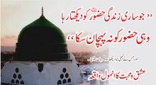 Muhammad Raza Saqib Mustafai - Jo Sari Zindgi HUZOOR Ko Dekhta Rha Wahi HUZOOR Ko Na Pehchaan Ska