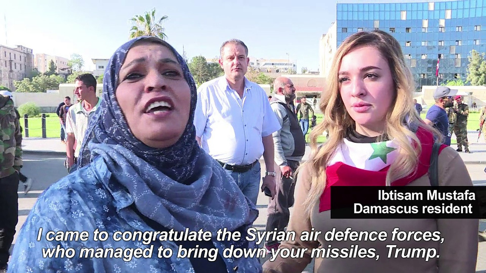 Defiance in Syria after US, Britain & France launch air strikes