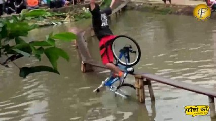 दुनिया की सबसे मजेदार साइकिल रेस,  देखो लेकिन हसना नहीं