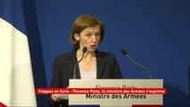 """""""Je peux affirmer que la mission est un succès. Ses objectifs militaires sont atteints. La capacité de la Syrie à concevoir, produire et stocker des armes chimiques"""" est """"considérablement amoindri"""", déclare la ministre des Armées Florence Parly"""
