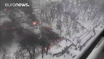 Decenas de detenidos en enfrentamientos con la policía en Ucrania