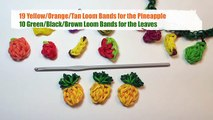 Rainbow Loom Fruit Off the Loom - Pineapple Charm