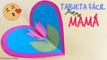 Tarjeta Fácil para Mamá, Manualidades para el Día de la Madre, Regalo para el Día de la Madre