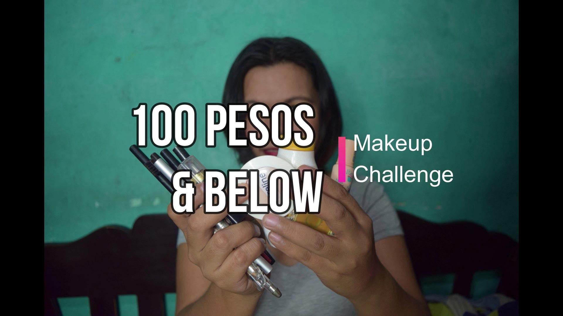 100 Pesos & below Makeup Challenge   Makeup Video   Anna Flores   Philippines