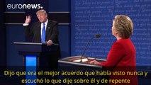 Los mejores choques del primer debate entre Clinton y Trump