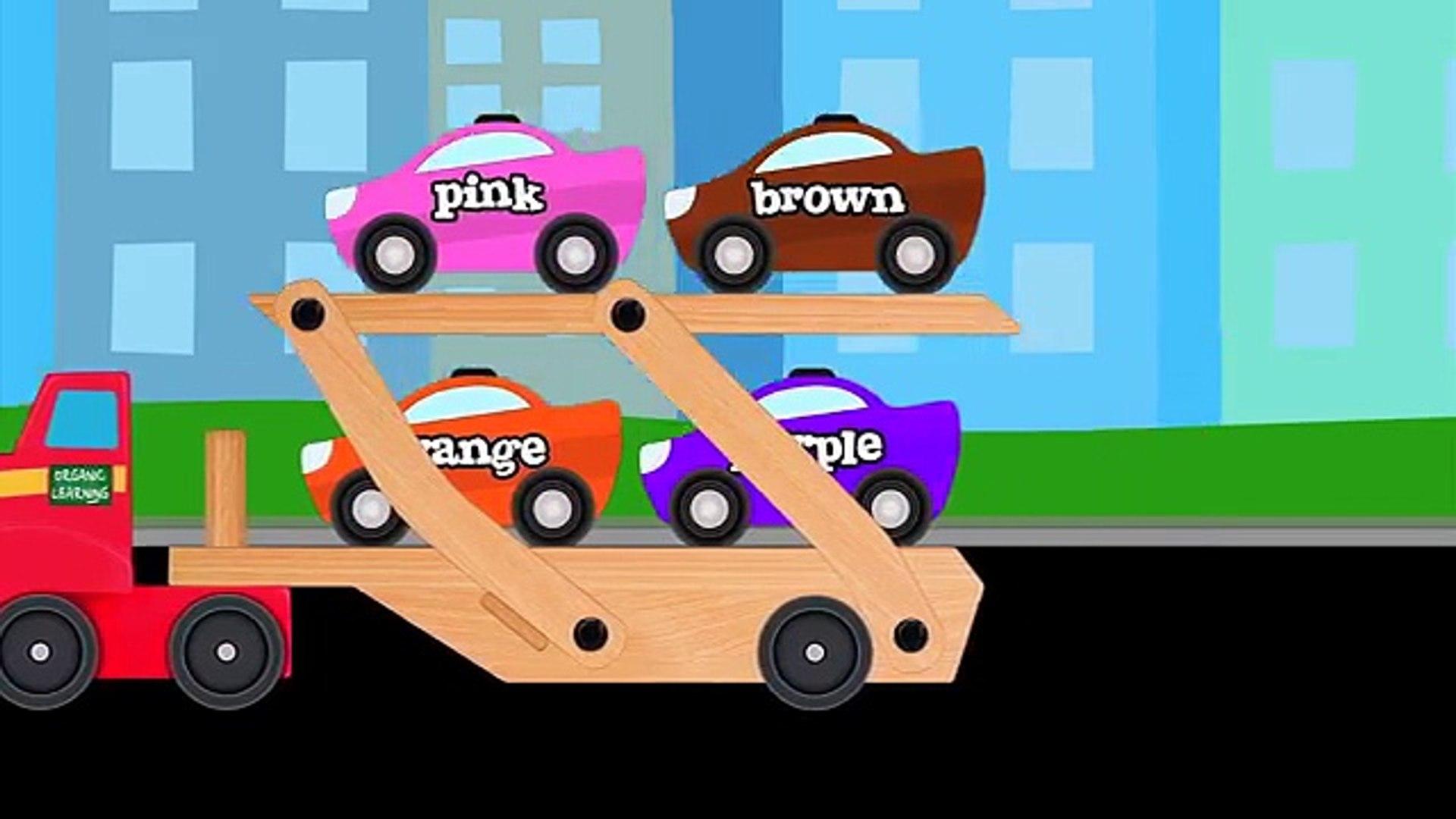 Otomobil Kamyon Sokak Taşıtlar Öğretim Renkleri - Çocuklar için öğrenme Renkleri video