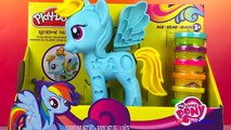 Play doh MLP ❤ My little pony friendship is magic Rainbow dash pony hair style set DisneyToysReview