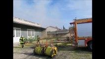 Incendie d'un entrepôt à Monteux