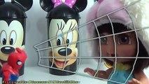 Dora Aventureira Baby Copos Surpresas Disney com Massinha Play Doh. Aprendendo C
