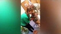 Révoltant : cette mère veut fesser avec une batte son fils tenu par sa grand mère