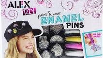 I Paint Enamel Pins! Unicorn Pin! Alex DIY Paint and Wear Enamel Pins Craft Set!