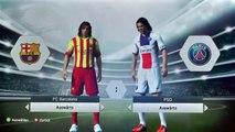 Fifa 14 Gameplay Xbox 360 (Barcelona Vs PSG) - Español