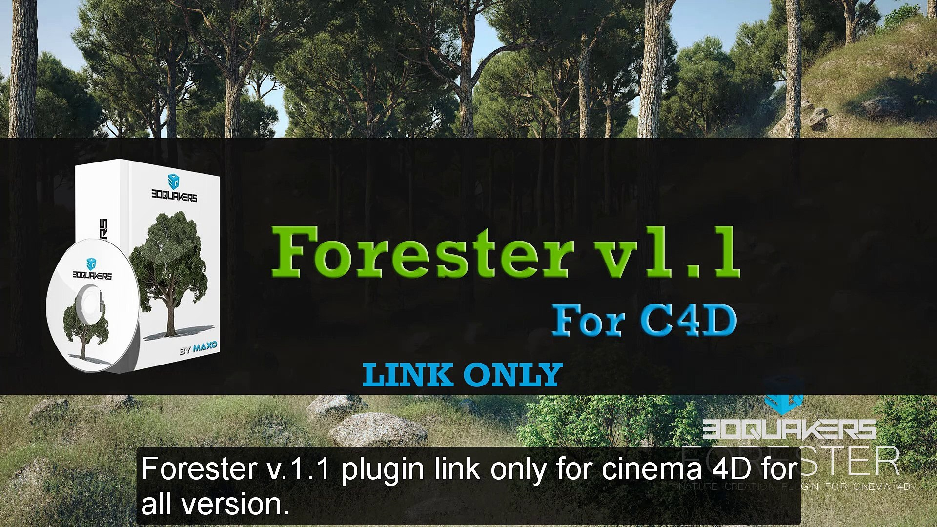forester v 1 1 for cinema 4D R14-R17 (3DQUAKERS)