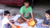 Pumpkin Carving Fun for Halloween Scary and Fun Faces    How to Carve Halloween Pumpkins