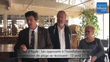 Grau d'Agde - Les oposants à l'installation de la concession de plage se réunissent