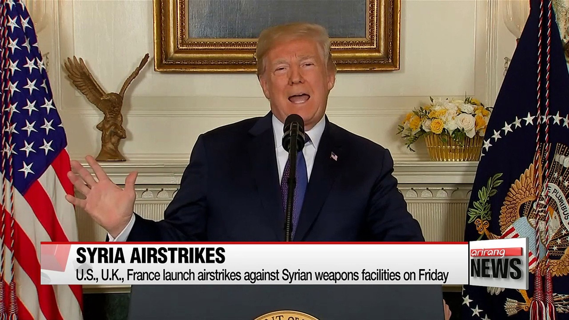 Coordinated air strikes on Syria and its impact on North Korea