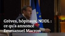 Grèves, hôpitaux, NDDL : ce qu'a annoncé Emmanuel Macron lors de son interview télévisée