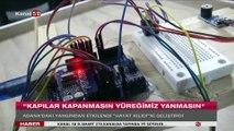 Adana'daki yurt yangınından etkilendi, sensörlü kapı sistemi tasarladı