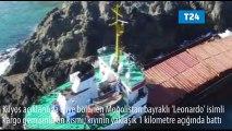 Kilyos açıklarında ikiye bölünen kargo gemisinin ön kısmı battı