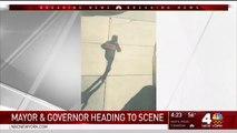 New York saldırganı polis tarafından vurulmadan hemen önce kameralara yansıdı