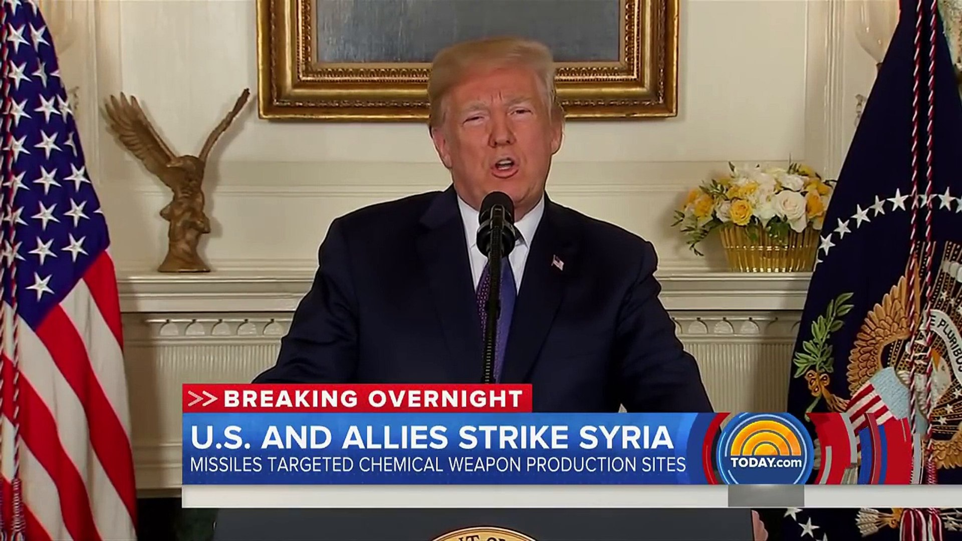 Trump Announces Strikes On Syria After Suspected Chemical Weapons Attack _ TODAY